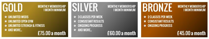 CrossFit Monthly Memberships